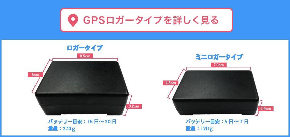 GPSロガータイプ詳細
