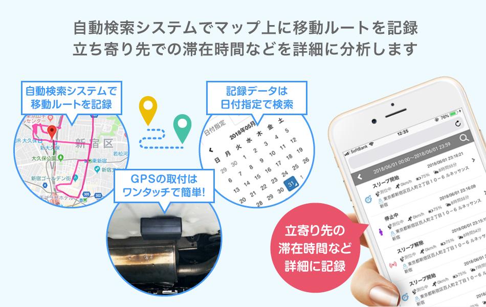 GPS検索画面